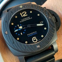 Panerai Luminor Submersible 1950 3 Days Automatic usados 47mm Negro Fecha Caucho