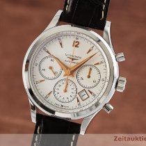 Longines Column-Wheel Chronograph Steel 41mm Silver