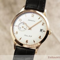 Zenith Red gold Manual winding Silver 37mm pre-owned Elite