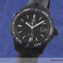 TAG Heuer Titanium Automatic Black 42.5mm pre-owned Aquaracer 500M