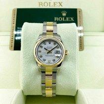 Rolex Lady-Datejust 179163 Não usado Ouro/Aço 26mm Automático