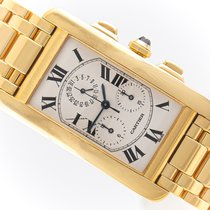 Cartier Tank Américaine Yellow gold 26mm Silver Roman numerals
