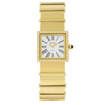 Chanel Yellow gold Quartz White 22.5mm pre-owned Mademoiselle