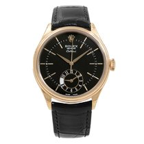 Rolex Cellini Dual Time Rose gold 39mm Black United States of America, New York, NYC