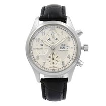IWC Pilot Spitfire Chronograph pre-owned 42mm Silver Leather