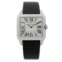 Cartier Santos Dumont White gold 30mm Silver United States of America, New York, NYC