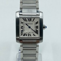 Cartier Tank Française pre-owned White Steel