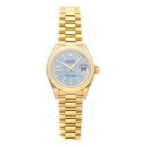 Rolex Lady-Datejust Zuto zlato 28mm Plav-modar Rimski brojevi