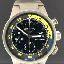 IWC Titanium Automatic Black No numerals 42mm pre-owned Aquatimer Chronograph