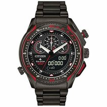Citizen Steel Chronograph Black 46mm new Promaster Land