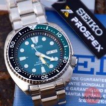 Seiko Prospex Steel 45mm Green No numerals