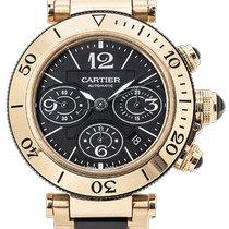 Cartier Pasha Seatimer W301980M / 3066 Ottimo Oro giallo 43mm Automatico