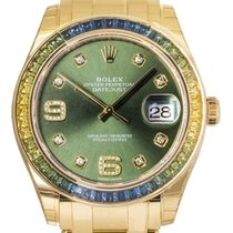 Rolex Pearlmaster Yellow gold 39mm Green
