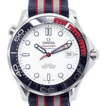 Omega Seamaster Diver 300 M Acier 41mm Blanc