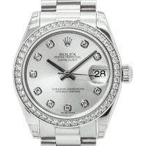 Rolex Lady-Datejust Платина 31mm Cеребро
