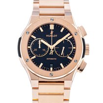 Hublot Classic Fusion Chronograph pre-owned 45mm Black Date Rose gold
