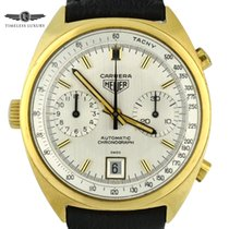 Heuer Yellow gold Automatic Silver 38mm pre-owned