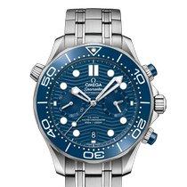 Omega Seamaster Diver 300 M neu 2020 Automatik Chronograph Uhr mit Original-Box und Original-Papieren 210.30.44.51.03.001