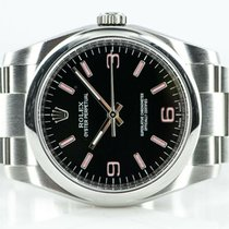 Rolex Silver Automatic Black 36mm pre-owned Oyster Perpetual 36