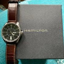 Hamilton Khaki Pilot Zeljezo 46mm Crn Arapski brojevi