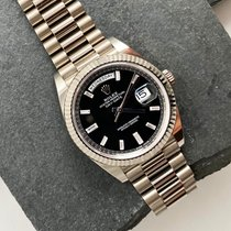 Rolex Day-Date 40 Or blanc 40mm Noir Romain