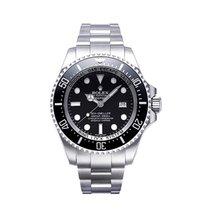 Rolex Сталь Автоподзавод Чёрный Без цифр 44mm подержанные Sea-Dweller Deepsea