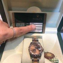 Rolex Oro rosa Automático Marrón Romanos 31mm usados Lady-Datejust