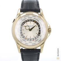 Patek Philippe World Time Zuto zlato 40mm Srebro Arapski brojevi