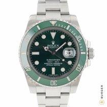 Rolex Submariner Date Steel 40mm Green No numerals