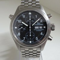 IWC Pilot Double Chronograph pre-owned 42mm Black Double chronograph Steel