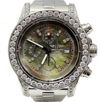 Breitling Steel Automatic Mother of pearl 50mm pre-owned Super Avenger