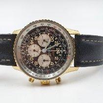 Breitling Navitimer Cosmonaute Желтое золото 41mm Черный Aрабские