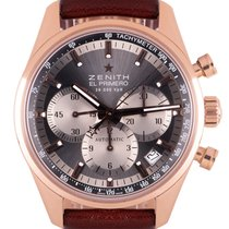 Zenith El Primero pre-owned 38mm Grey Chronograph Date Tachymeter Leather