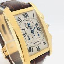 Cartier Tank Américaine Gelbgold 26mm Silber Römisch
