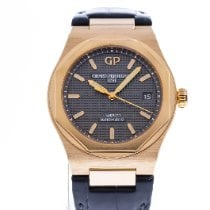 Girard Perregaux Rose gold Automatic Grey 38mm pre-owned Laureato