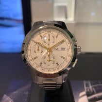 IWC Ingenieur Chronograph Steel 42mm Silver No numerals