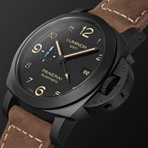 Panerai Luminor 1950 3 Days GMT Automatic Ceramic 44mm Black Arabic numerals United States of America, Georgia, Alpharetta