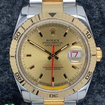 Rolex Datejust Turn-O-Graph Ouro/Aço Champanhe Sem números
