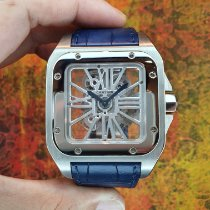 Cartier Santos 100 W2020018 Very good Palladium Manual winding
