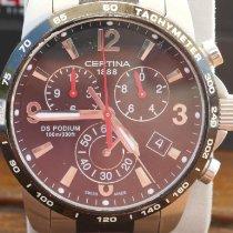 Certina DS Podium Big Size occasion 42mm Noir Chronographe Date Tachymètre Acier