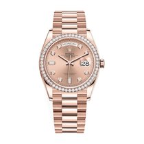 Rolex Day-Date 36 Roségold 36mm Pink Keine Ziffern