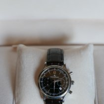 Jaeger-LeCoultre Master Control occasion 34mm Argent Chronographe Cuir