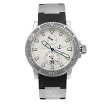 Ulysse Nardin pre-owned Automatic 44mm Silver 30 ATM