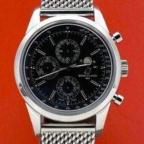 Breitling Transocean Chronograph 1461 Stahl 43mm Schwarz Keine Ziffern