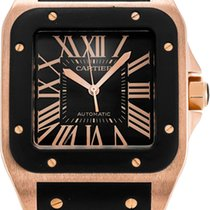 Cartier Santos 100 Rose gold 38mm Black Roman numerals United States of America, California, Los Angeles