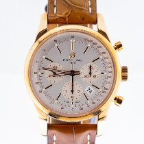 Breitling Transocean Chronograph Or rose 43mm Argent Sans chiffres