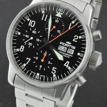 Fortis Flieger Steel 40mm Black