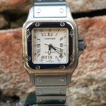 Cartier Santos Galbée Stahl 51mm Silber Römisch