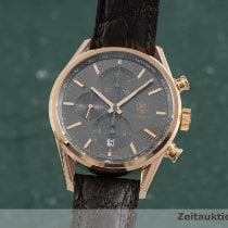 TAG Heuer Red gold Automatic Grey 41mm pre-owned Carrera Calibre 1887