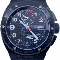 Alpina Racing Acero 47mm Negro Arábigos